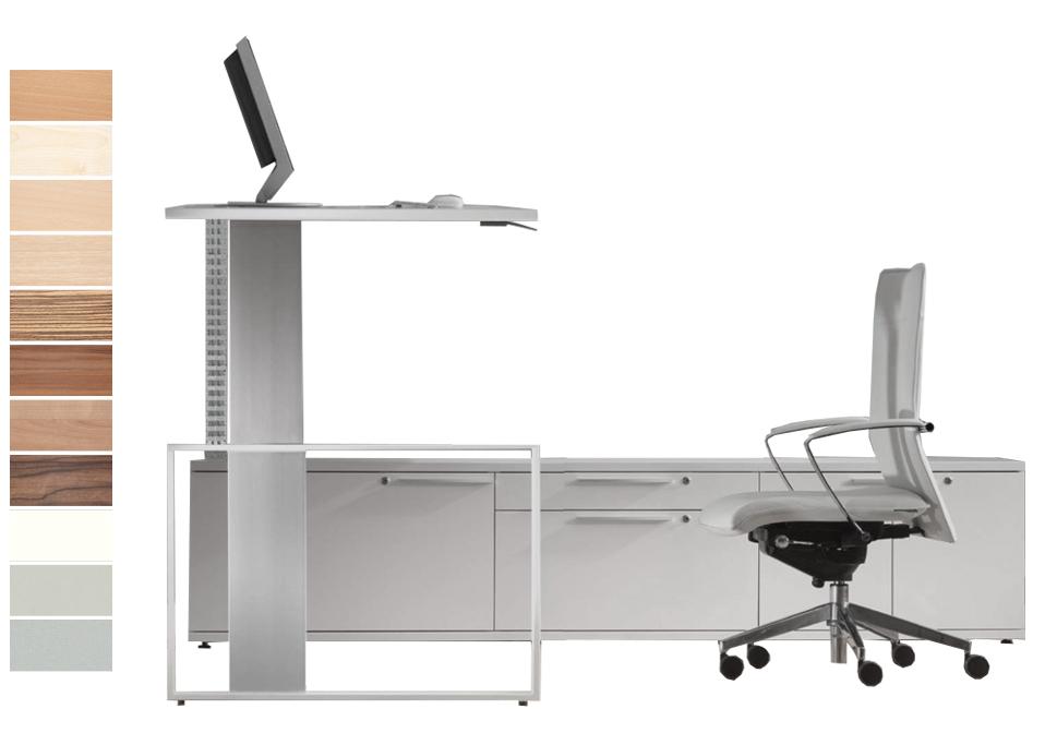 Leuwico iMove f Sitz- Stehtisch mit Unterbau online kaufen